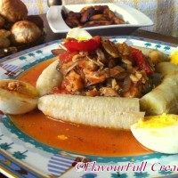 From St. Kitts With Love: Stewed Saltfish & Green Banana